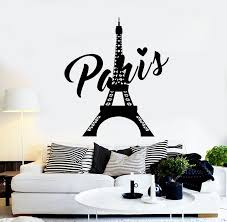 Vinyl Wall Decal Paris Eiffel Tower French Love Tourism Travel Sticker Wallstickers4you