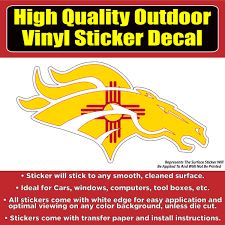 Denver Broncos New Mexico Flag Vinyl Car Window Laptop Bumper Sticker Colorado Sticker