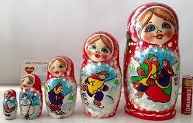 Búp Bê Nga Matryoshka Bộ 5 Con Tuyết