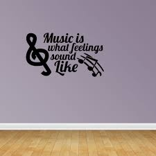 Music Is Quote Treble Bass Clef Decal Vinyl Wall Decals Vinyl Decals Music Decal Pc2 Walmart Com Walmart Com