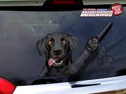 Indy The Waving Black Labrador Retriever Dog Decal Wipertag For Rear Windshield Wiper Wipertags