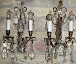 gilt bronze 2 arm wall lights hung
