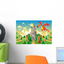 Panorama With Medieval Castle Wall Decal Mural By Wallmonkeys Peel And Stick Graphic 12 In W X 8 In H Wm320376 Walmart Com Walmart Com