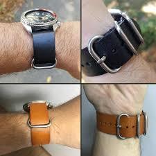 zulu leather watchband nato watch band