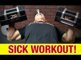 working out when sick lifting weights
