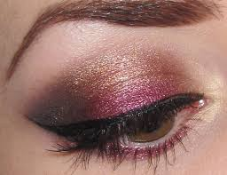 gold copper and wine eye makeup tutorial
