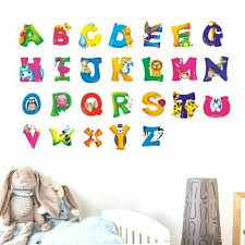 Home Decor For Kids Rooms Jungle Alphabet Wall Decal Mural Poster Wall Stickers For Sale Online