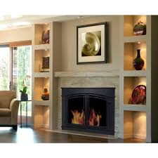 small glass fireplace doors fc 5902