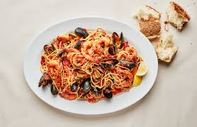 Seafood Spaghetti with Mussels and ...