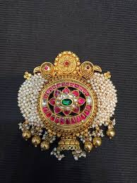 antique pearl pendant gold pendent