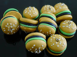 hamburger shape polymer clay charms
