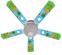 Kids Hangin Tall Giraffe Ceiling Fan 52 Ceiling Fans Kids Room Decor