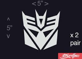 Transformers Decepticon Decal Sticker Vinyl Car Truck Window Wall Decor Ebay