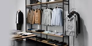 modern clothing display racks
