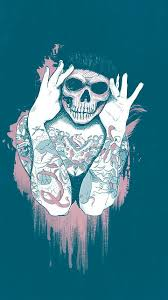 skull wallpaper iphone 6 posted by