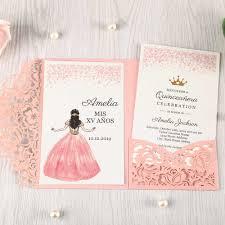 100 Uds Tarjetas De Invitacion Florales Rosas Cortadas Con Laser