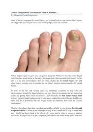 toenail fungus home treatment and