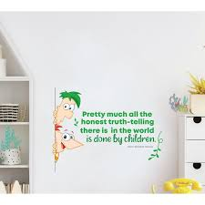 Design With Vinyl Honest Phineas And Ferb Life Quote Vinyl Wall Decal Wayfair