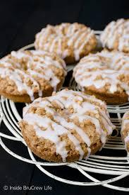 cinnamon crumble donuts inside