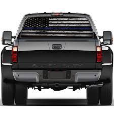 Flag Blue Stripes Pickup Truck Rear Window Decal Suv Car Sticker Wish