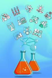 الكيمياء أنبوب الاختبار مجردة شجرة الأيقونات المواد شجرة