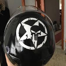 13cmx13cm The Punisher Skull Car Sticker Pentagram Vinyl Decals Motorcycle Accessories Creative Car Stickers C1 3132 Black Diario Shop