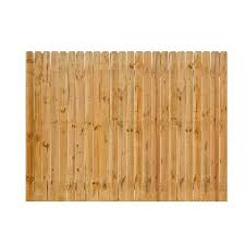 Severe Weather Actual 6 Ft X 8 Ft Cedar Dog Ear Wood Fence Panel 148694 Mod 1000 In 2020 Wood Fence Fence Panels Cedar Fence