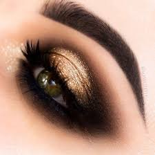 gold and black eye makeup eye