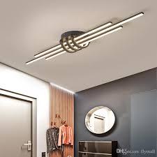 2020 Modern Led Chandeliers For Living Room Kids Bedroom Corridor Matte Black White Finished Aluminum Ceiling Lights Lamp Fixtures Ac 90 260v From Flymall 82 3 Dhgate Com