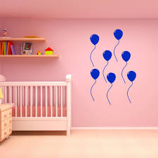 Vwaq Peel And Stick Pack Of 7 Balloons Vinyl Wall Decal Choose Color