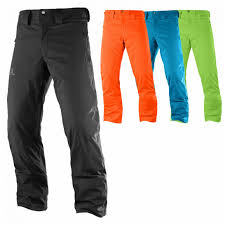 salomon ski pant wear mens rise pants