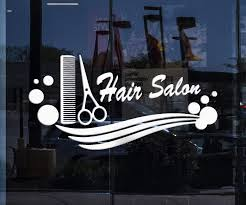 Window Decor And Wall Stickers Hair Salon Vinyl Decal Comb Scissors Ha Wallstickers4you