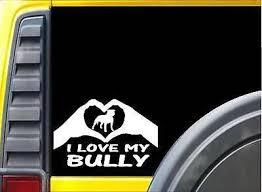 Bully Hands Heart Sticker K067 8 Inch American Bully Dog Decal Fashion Home Garden Homedcor Decalsstickersvinylart Ebay In 2020 Dog Decals Dog Stickers Bully Dog