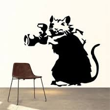 Banksy Paparazzi Rat Wall Decal Removable Sticker Vinyl Decor Art Transfer Photo Ebay