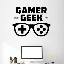 Gamer Geek Decal Video Game Controller Sticker Play Decal Gaming Posters Gamer Vinyl Decals Decor Mural Video Game Wall Sticker Video Game Stickers Game Stickervinyl Wall Decals Aliexpress