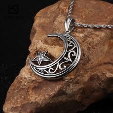 moon star pendant necklaces
