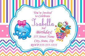 Shopkins Invitations Shopkins Printed Invitations Shopkins
