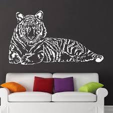 Super Deal B6fa2 Large Size Tiger Home Decor Bedroom Living Room Wall Sticker House Decoration Art Diy Vinyl Wall Decals Wallpaper Animal M171 Cicig Co