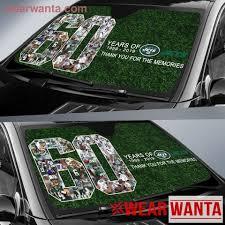 60 Years Anniversary Of Ny Jets Auto Sun Shade Wear Wanta