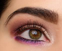 a soft pink purple eye look with too