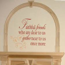 Faithful Friends Wall Decals Trading Phrases