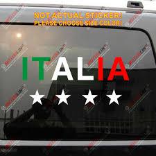 Flag Of Italy Italian 4 Champion Stars Football Car Truck Decal Sticker Vinyl Die Cut Choose Your Size Sticker Vinyl Truck Decalsdecal Sticker Aliexpress