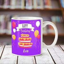Chanakya Happy Birthday Iva White ceramic mug Ceramic Mug Price in ...