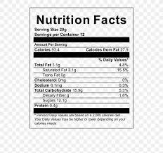 bubble tea oolong nutrition facts label