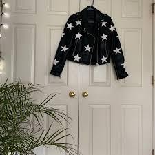 vegan leather star jacket poshmark