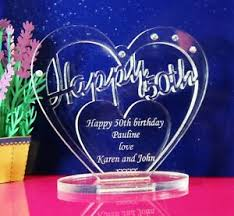 personalised 50th birthday gift heart
