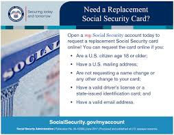 replacing social security cards