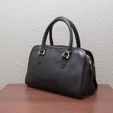 coach black beaumont leather doctor bag