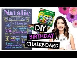 diy 1st birthday chalkboard easy