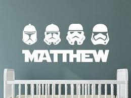 Star Wars Stormtroopers Personalized Vinyl Wall Decal Sticker Boys Dec Decals By Droids